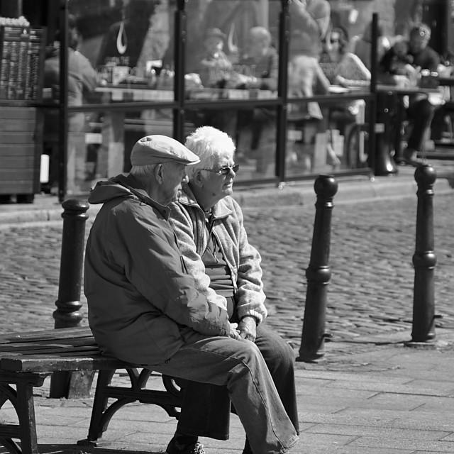 """Elderly Hand Holding"" stock image"