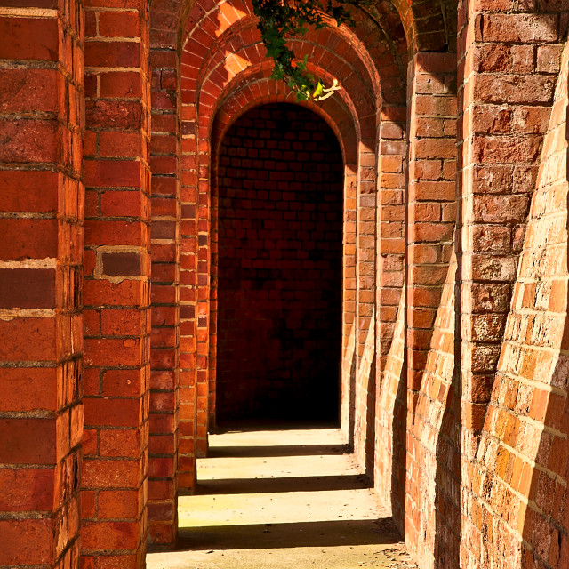 """""""Brick Walkway"""" stock image"""
