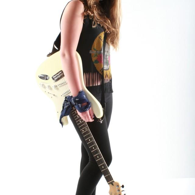 """Rock chick"" stock image"