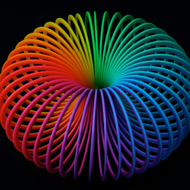 """""""Concentric Slinky"""" stock image"""