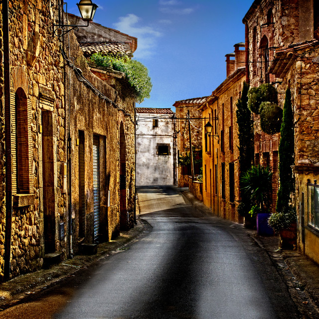 """""""The little spanish town"""" stock image"""