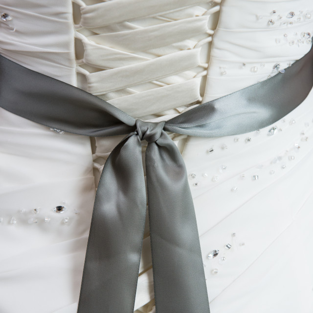 """Wedding dress details"" stock image"