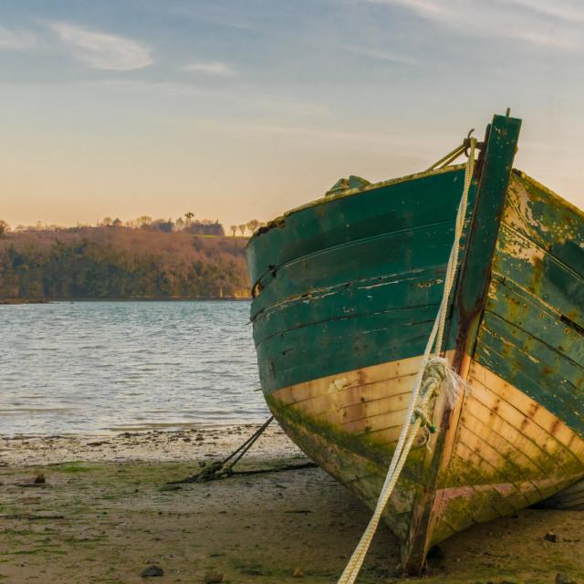 """Old fishing boat"" stock image"