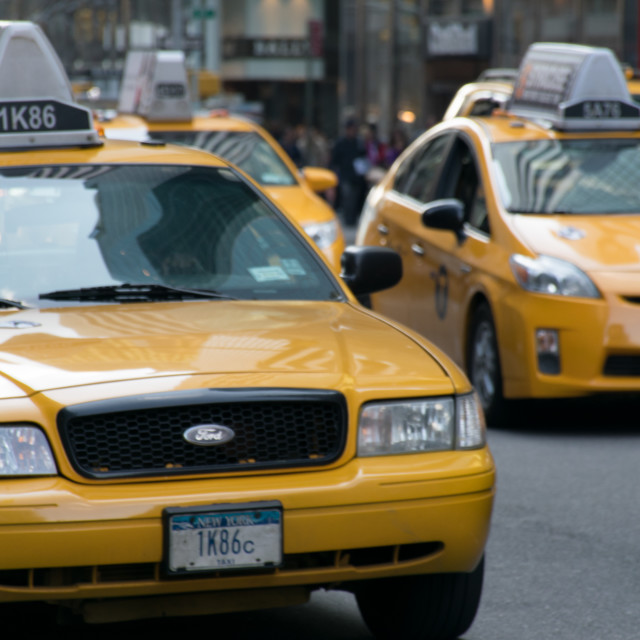 """""""Yellow Cabs"""" stock image"""