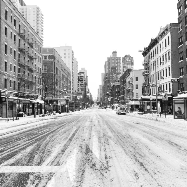 """""""New York City in the snow"""" stock image"""