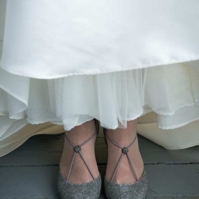 """Bride's Shoes"" stock image"