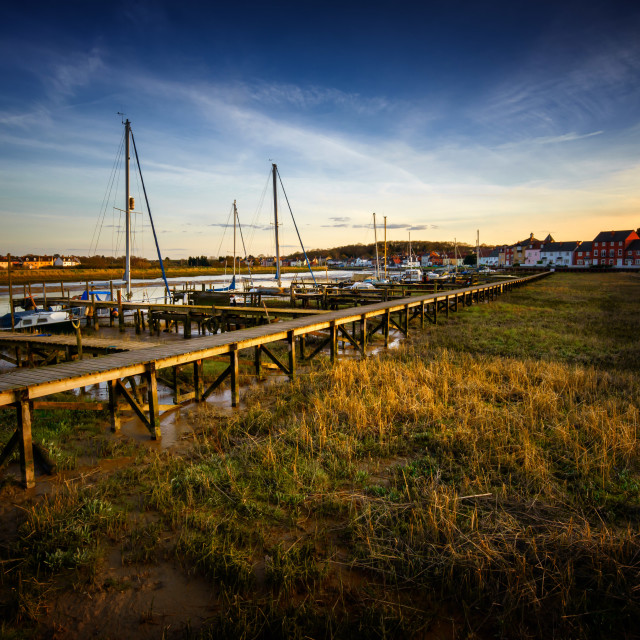"""Row Hedge Marina at Sunset"" stock image"