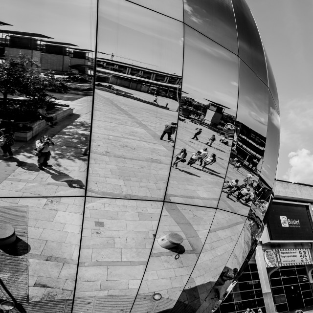 """Reflections, Bristol, 2"" stock image"