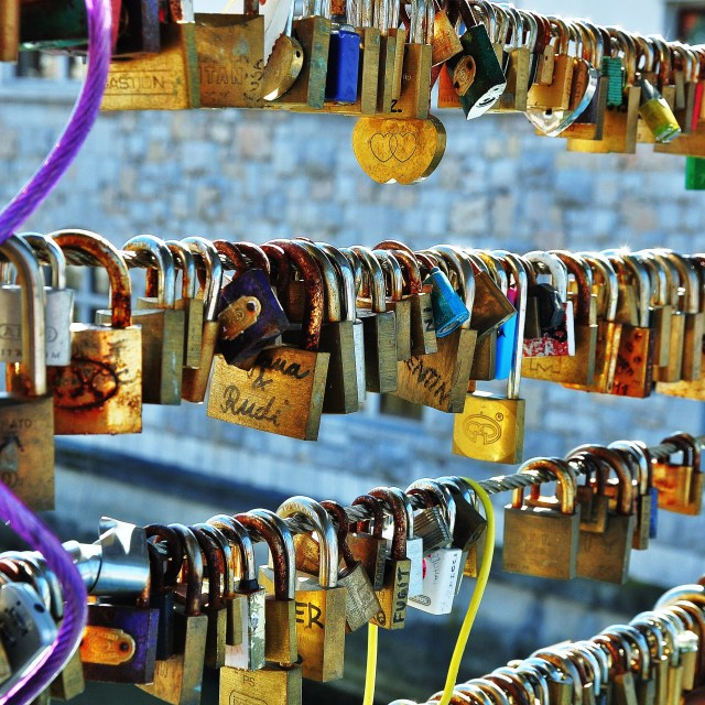 """Padlock Bridge"" stock image"