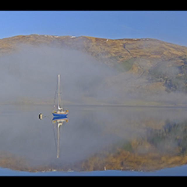"""Ballachulish Boats"" stock image"