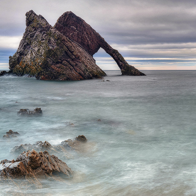 """Bow Fiddle Rock"" stock image"