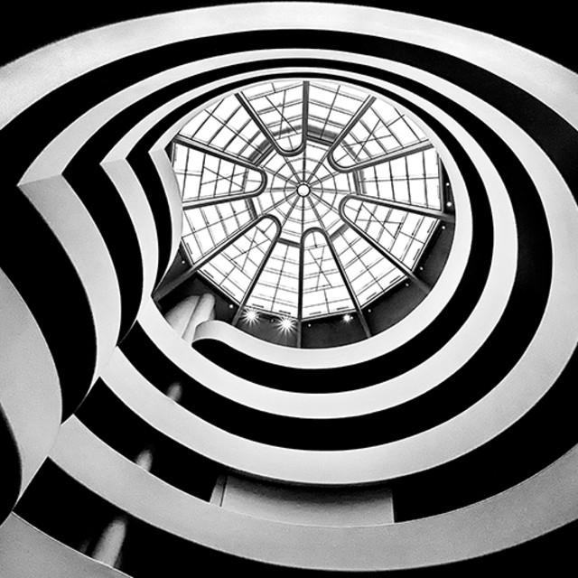 """Guggenheim Museum ceiling"" stock image"