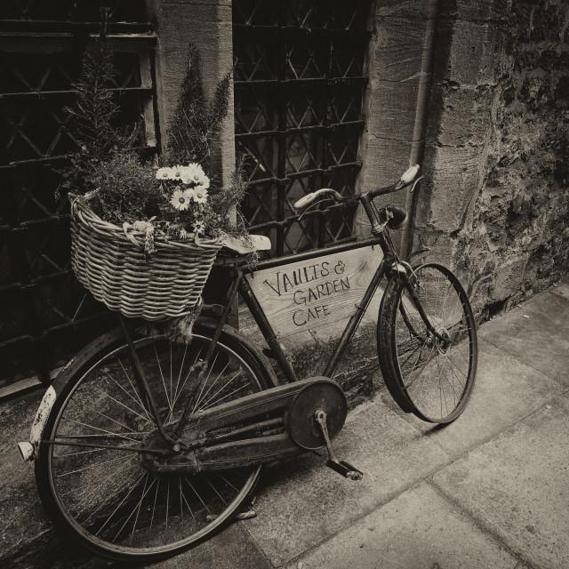 """Oxford University Bicycle"" stock image"