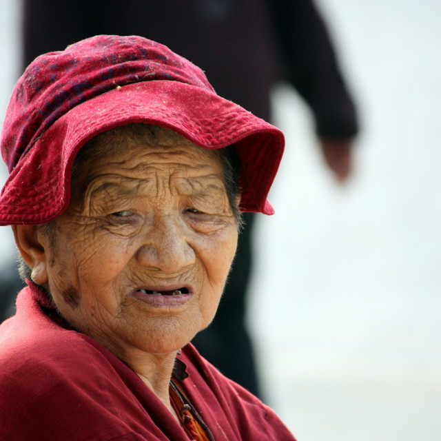 """Tibetan lady"" stock image"
