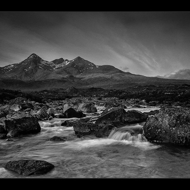"""THE CUILLINS 1"" stock image"