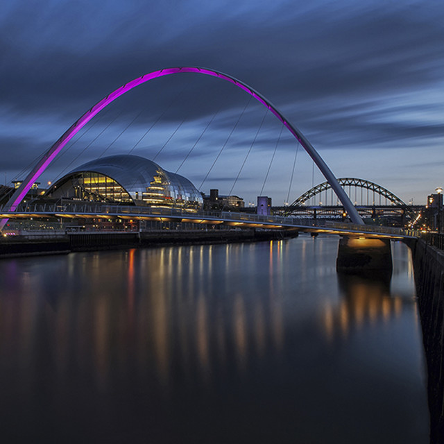 """MILLENIUM BRIDGE NEWCASTLE"" stock image"