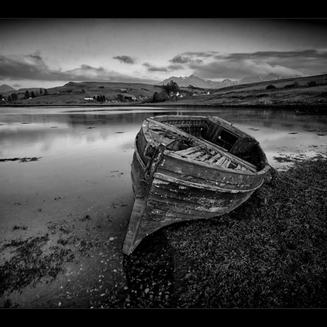"""The old Boat"" stock image"