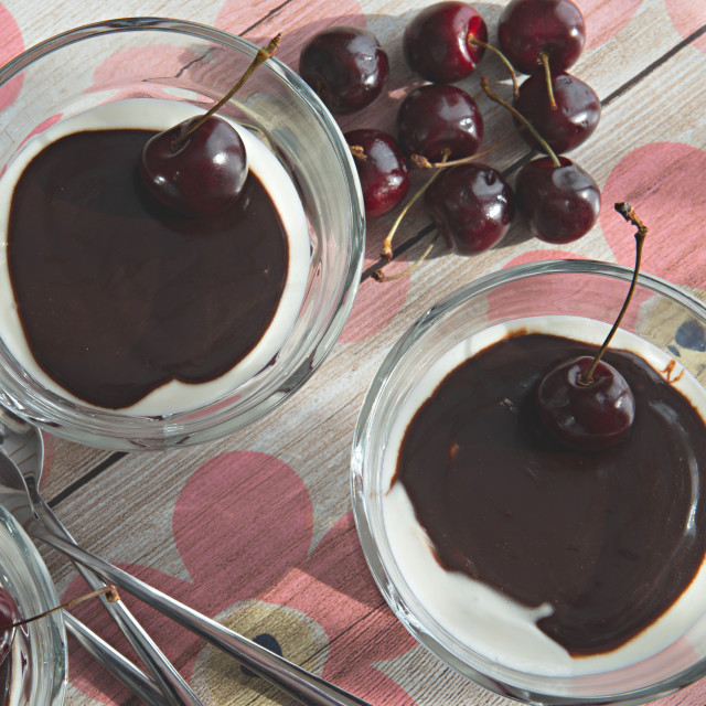 """Cherry Dessert"" stock image"