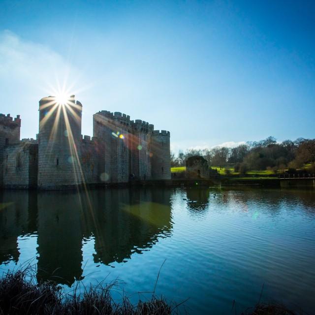 """""""Castle Sun flare"""" stock image"""