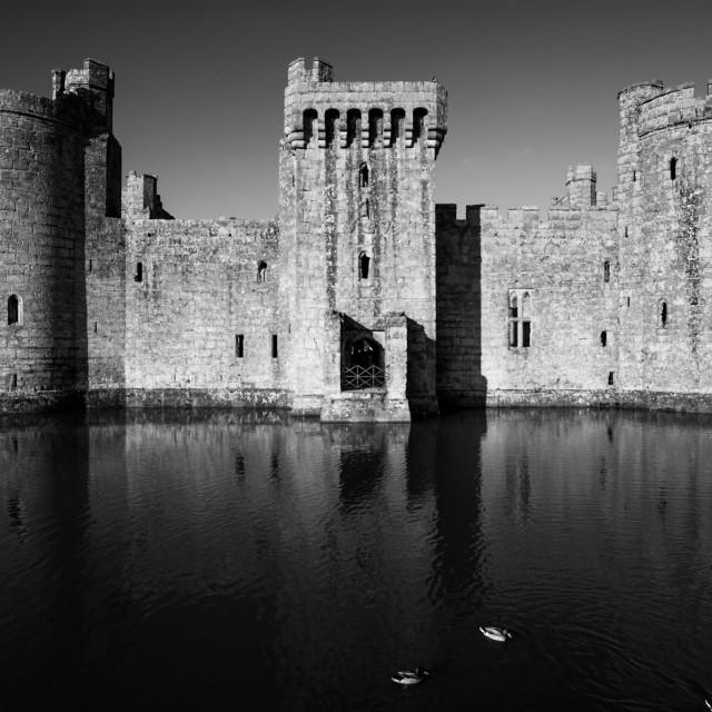 """""""Bodiam Castle BW"""" stock image"""