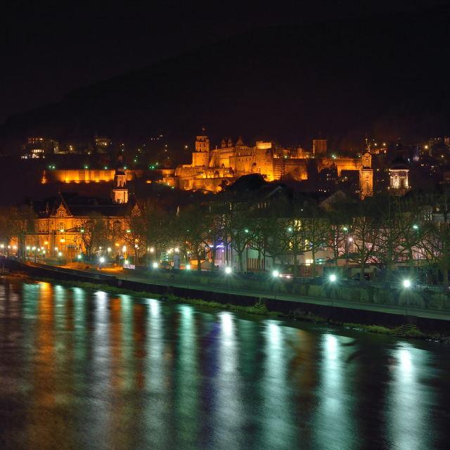 """Colours of Heidelberg Castle"" stock image"