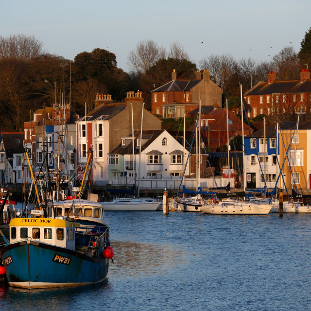 """""""Weymouth Harbour"""" stock image"""