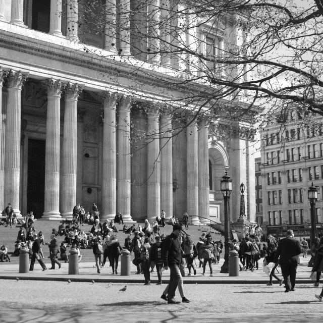 """""""St Paul's Cathederal, April 2015"""" stock image"""