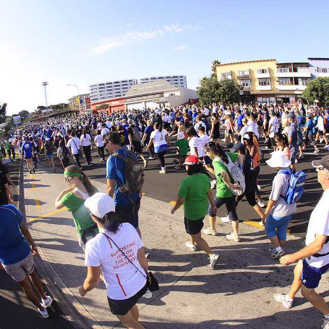 """Auckland Round the Bays 8 km Fun Walk 2011"" stock image"