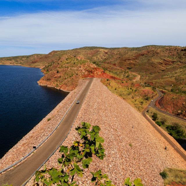 """Ord River Dam and Lake Argyle, Western Australia"" stock image"