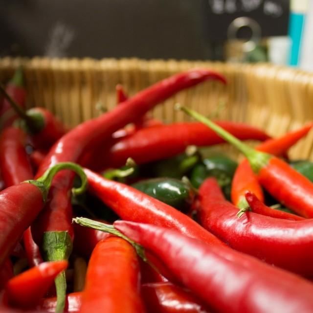 """""""Red chilli close shot deli"""" stock image"""