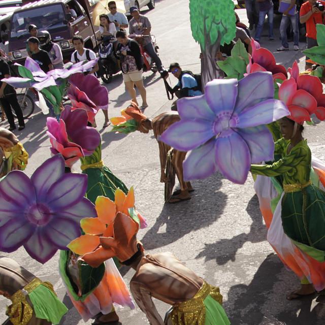 """Buglasan Festival 2014 Cultural Dance Parade"" stock image"