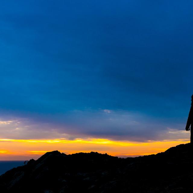 """""""Silhouette in Catalonia"""" stock image"""