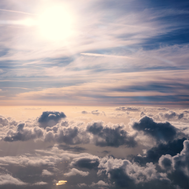"""Above the clouds"" stock image"