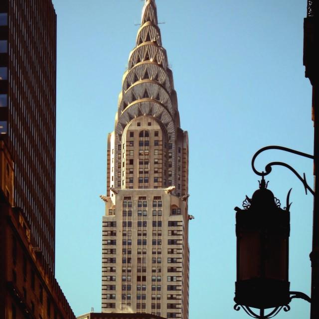 """""""Chrysler Building in Sunshine"""" stock image"""