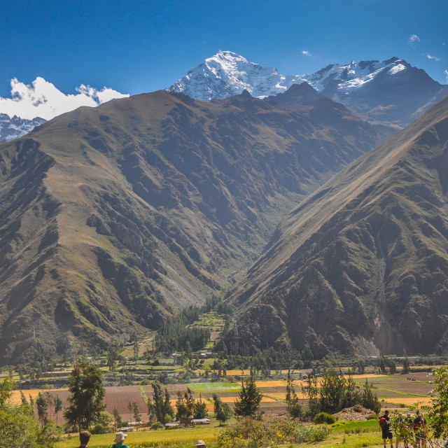 """Sacred Valley View"" stock image"