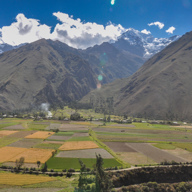 """Sacred Valley Patchwork"" stock image"