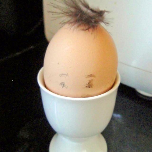 """Good morning sleepy egg"" stock image"