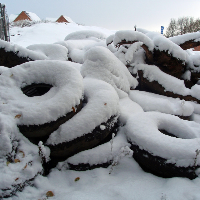"""""""Iced Tyres"""" stock image"""