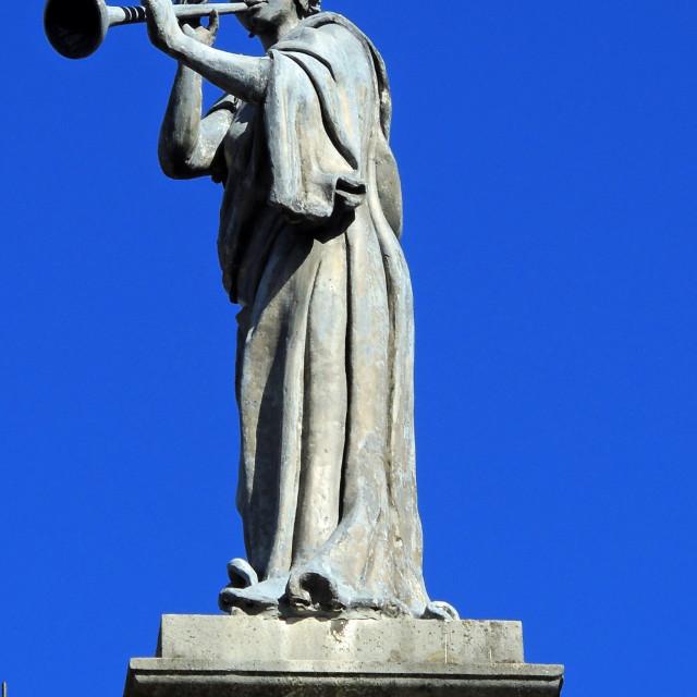 """""""Clarendon statue"""" stock image"""