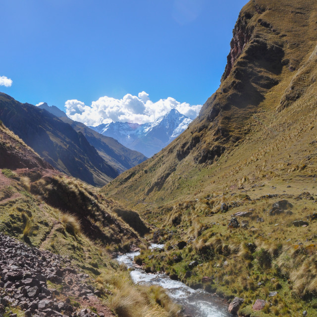 """The Silque Valley in Peru"" stock image"