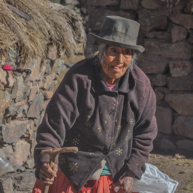 """Inca Grandmother"" stock image"