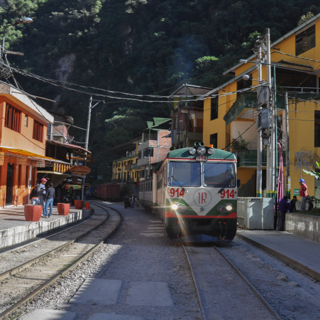 """Aguas Calientes Railway"" stock image"