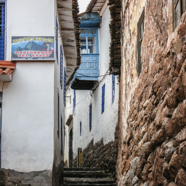 """Cusco Steps"" stock image"