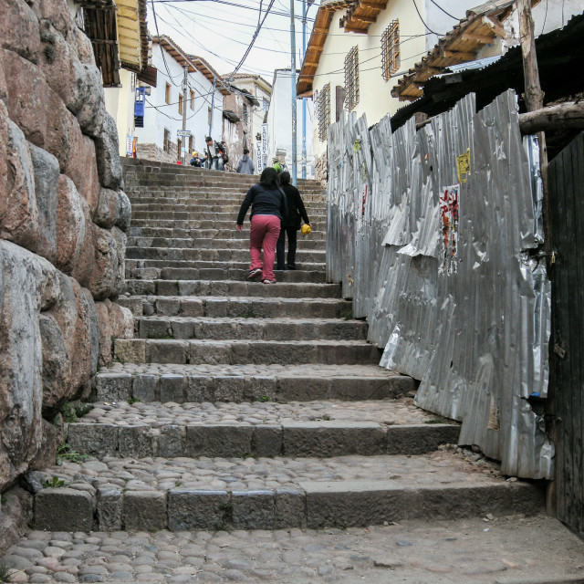 """Inca Steps Trek"" stock image"