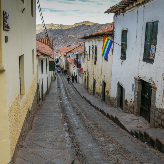 """Inca roads"" stock image"