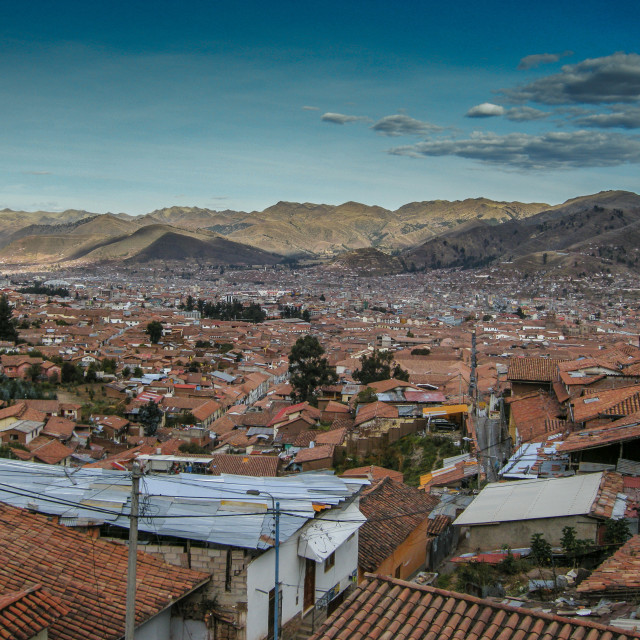 """View to the Andes"" stock image"