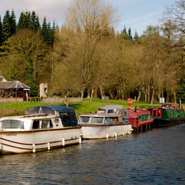 """Boats on the Canal"" stock image"