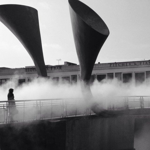 """Fog Bridge"" stock image"