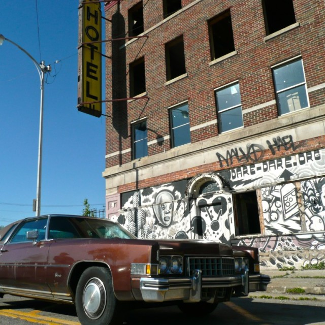 """Detroit ruins"" stock image"