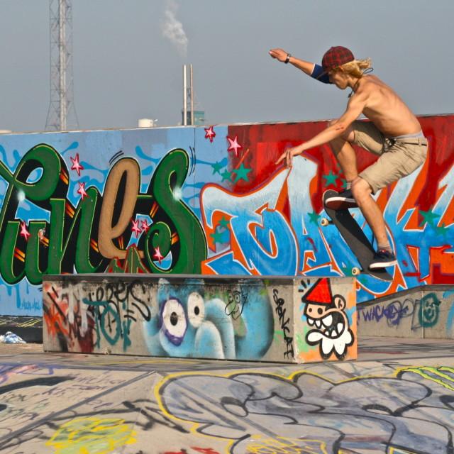 """""""Skater Amsterdam"""" stock image"""